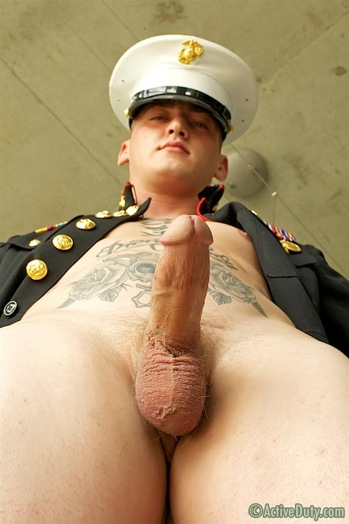ActiveDuty-Marine-Quinn-Straight-Marine-Jerking-Off-Thick-Cock-Amateur-Gay-Porn-11 Real Tatted Straight Marine Jerking His Thick Cock