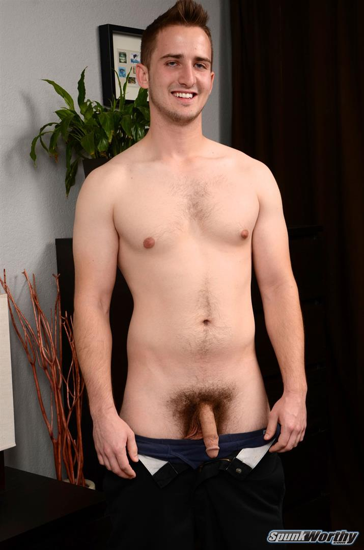 Spunkworthy-Jordan-College-Baseball-Player-Jerking-Off-Big-Cock-Amateur-Gay-Porn-04 23 Year Old Straight College Baseball Player Rubs One Out