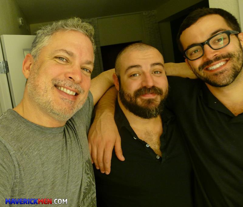 Maverick-Men-Grumpy-Hairy-Bear-Gets-Fucked-By-Two-Big-Daddy-Cocks-Amateur-Gay-Porn-4 The Maverick Men Bareback Tag Team A Hairy Bear Ass