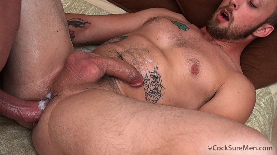 "Cocksure-Men-Brett-Bradley-and-Dustin-Steele-Cowboy-gets-fucked-bareback-in-the-ass-Amateur-Gay-Porn-12 Brett Bradley Breeding A Cowboy With His 10"" Thick Cock"