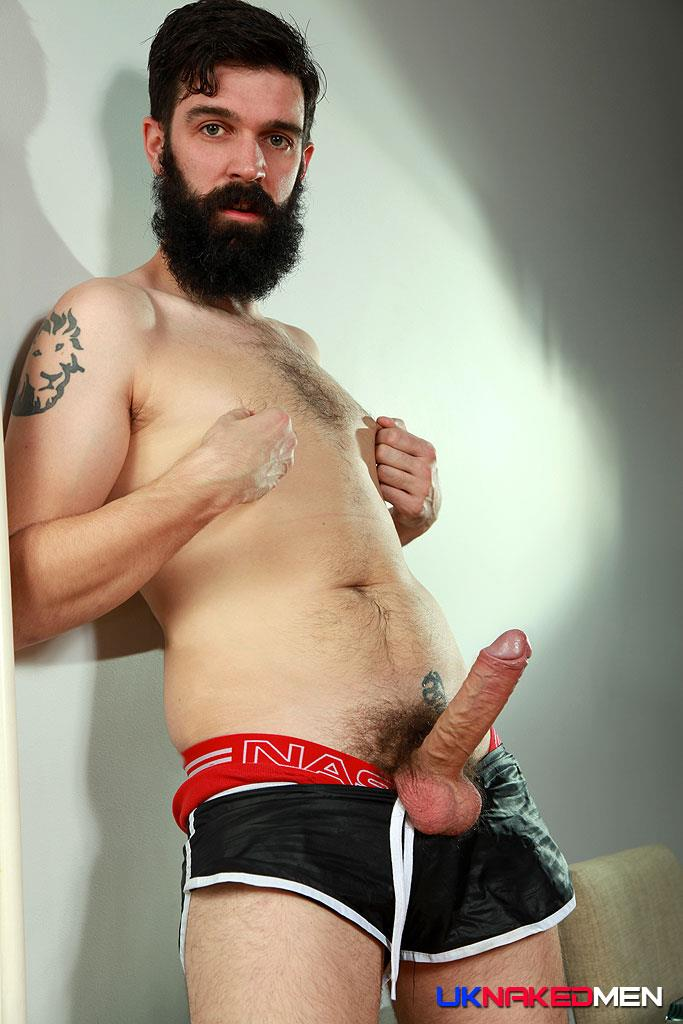 UK Naked Men Tom Long Bearded Guy With A Big Uncut Cock Jerk Off Amateur Gay Porn 08 Bearded Guy From England Jerking His Big Uncut Cock