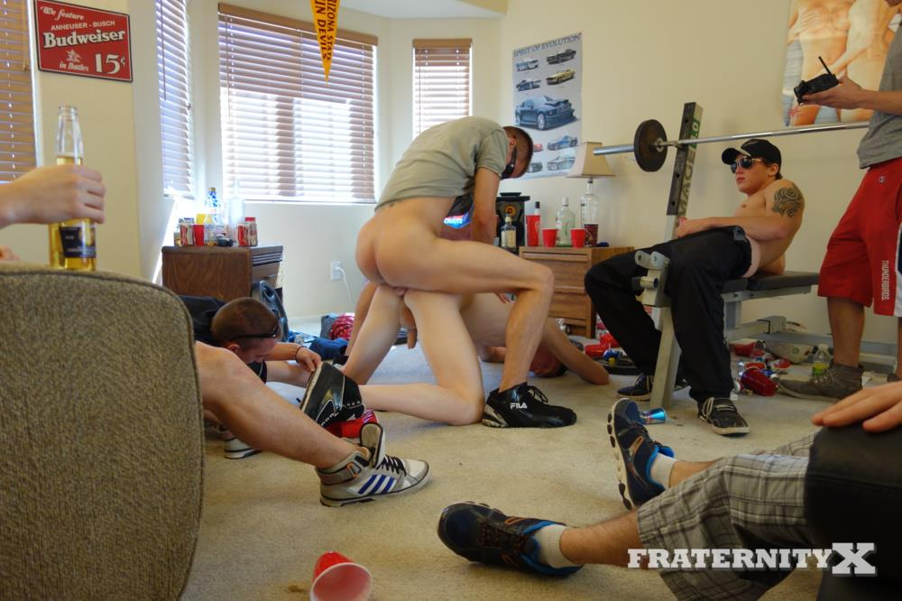Fraternity X Naked Frat Guys Bareback Sex Party Big College Cock Amateur Gay Porn 04 Drunk Straight Frat Boys Bareback Fucking After The Superbowl
