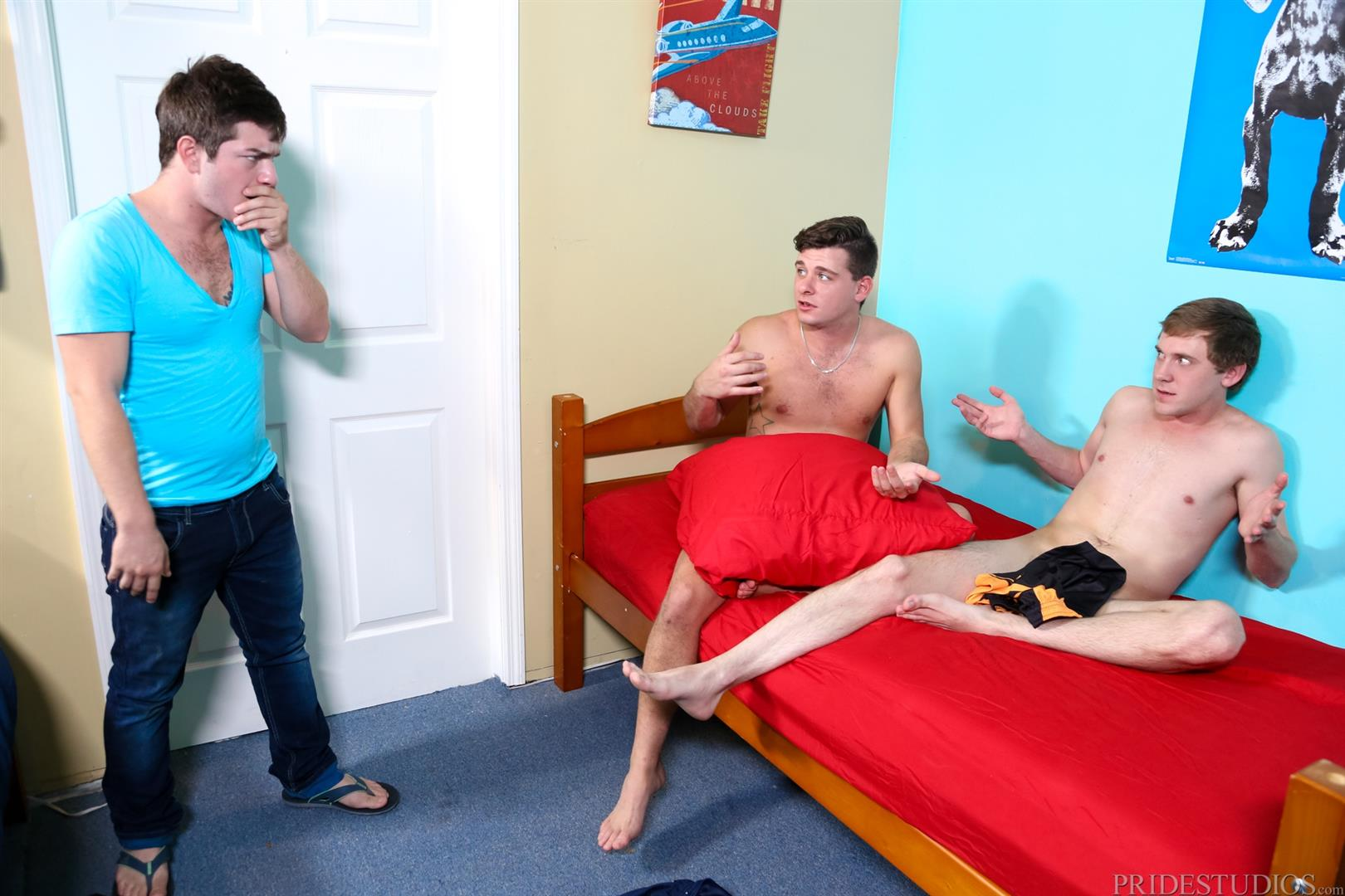 Cock-Virgins-AJ-Monroe-and-Cameron-Jacobs-and-Cody-Ray-First-Time-Gay-Sex-Twinks-Amateur-Gay-Porn-04 Straight Roommate Has First Time Experience With Another Guy