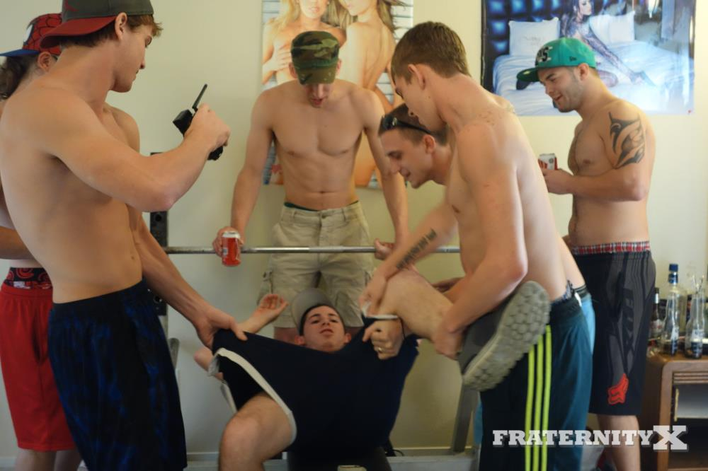 Straight college men having gay sex