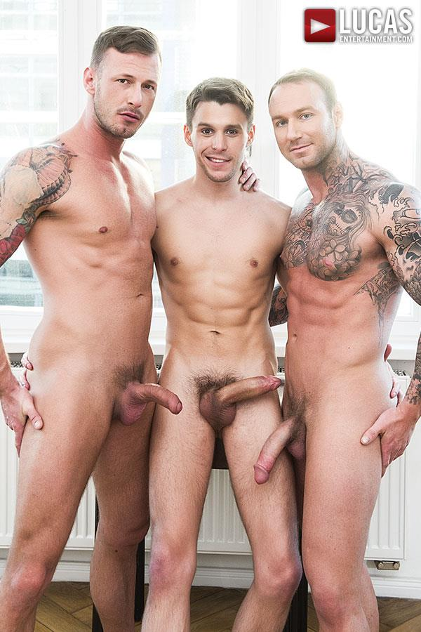 Lucas-Entertainment-Dylan-James-and-Logan-Rogue-and-Dmitry-Osten-Bareback-Threeway-Amateur-Gay-Porn-02 Dmitry Osten Takes A Raw Load In The Mouth And Ass