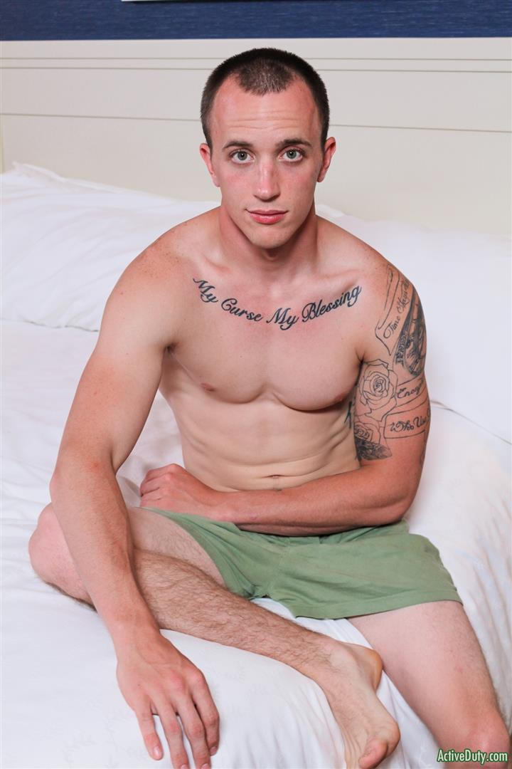 Active Duty James Straight Army Guy Jerking Off His Big Cock Amateur Gay Porn 07 Tatted Straight Army Hunk Auditions For Gay Porn and Shoots A Big Load