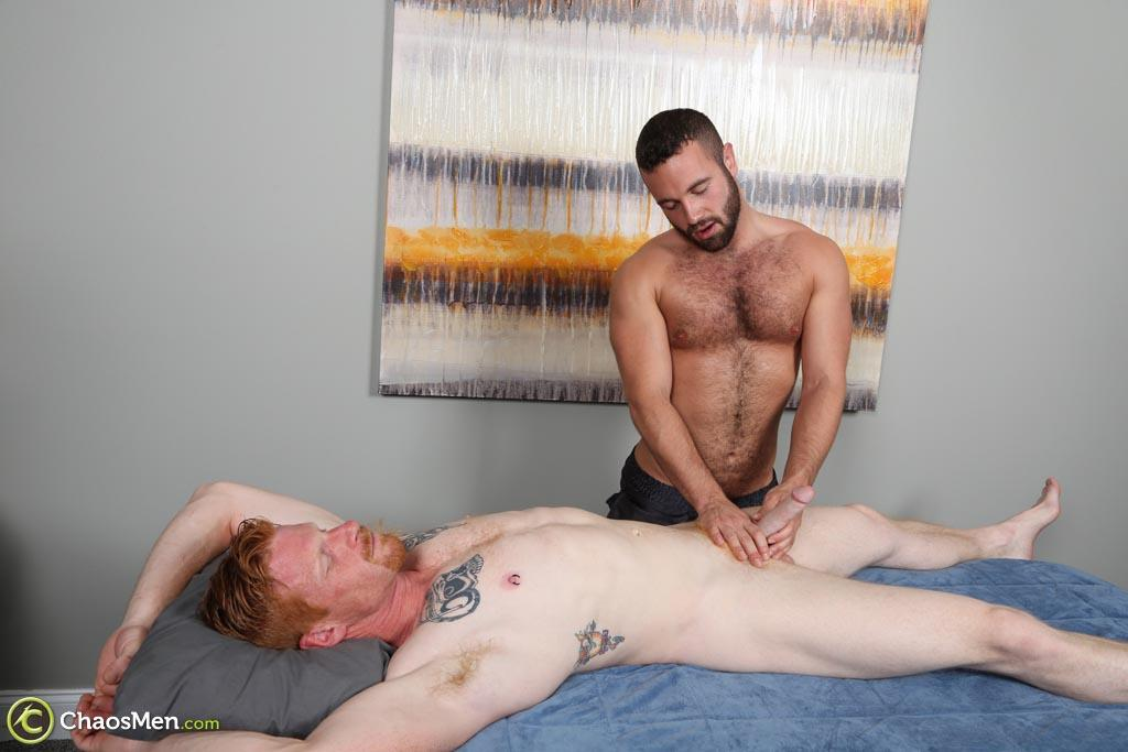 ChaosMen-Noah-and-Aric-Naked-Redhead-Gets-Blowjob-and-Rimming-Amateur-Gay-Porn-12 Straight Redhead Gets A Massage, Rimming and Blow Job From Another Guy