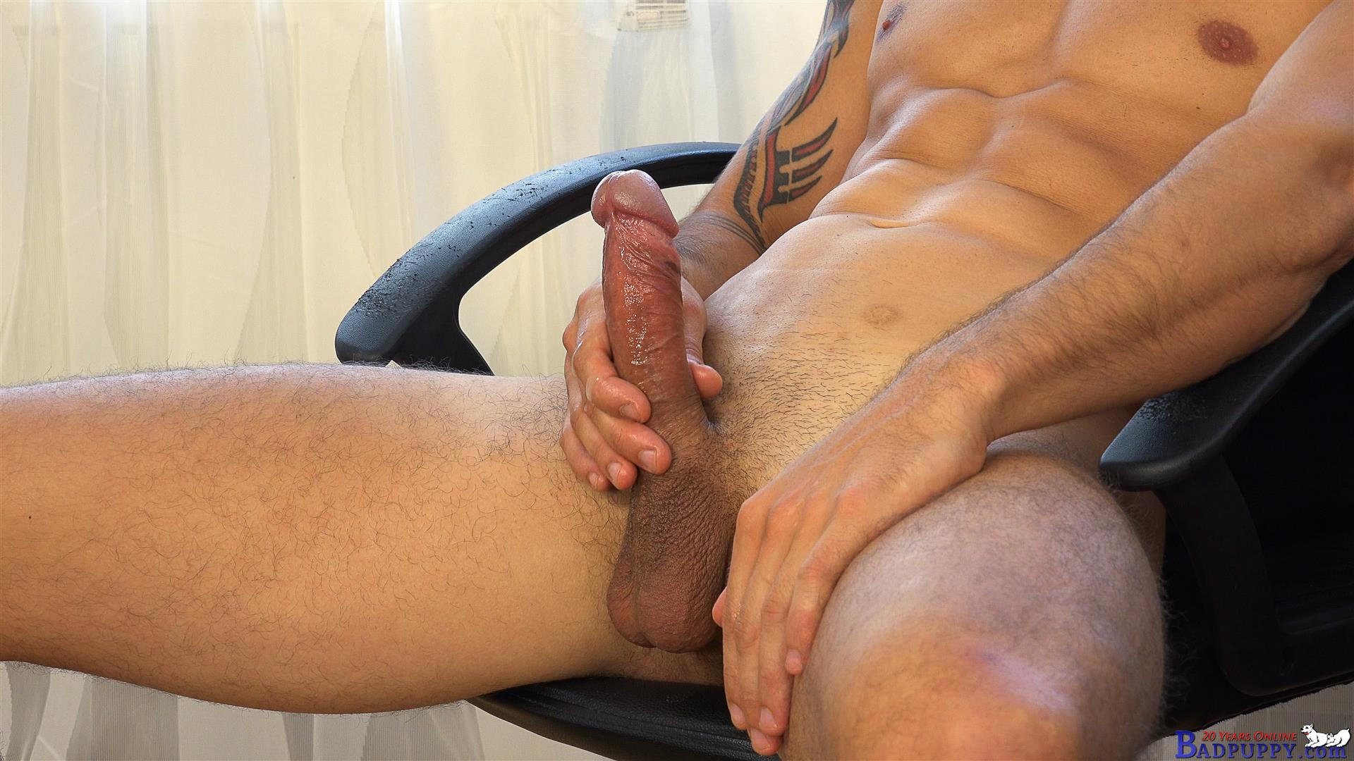 Badpuppy-Milan-Pis-Straight-Guy-With-Big-Uncut-Cock-Masturbating-Amateur-Gay-Porn-22 Straight Italian Banker Masturbating His Big Uncut Cock