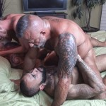 Raw Fuck Club Vic Rocco and Rikk York and Billy Warren and Job Galt Bareback Daddy Amateur Gay Porn 12 150x150 Four Hairy Muscle Daddies In A Bareback Fuck Fest Orgy