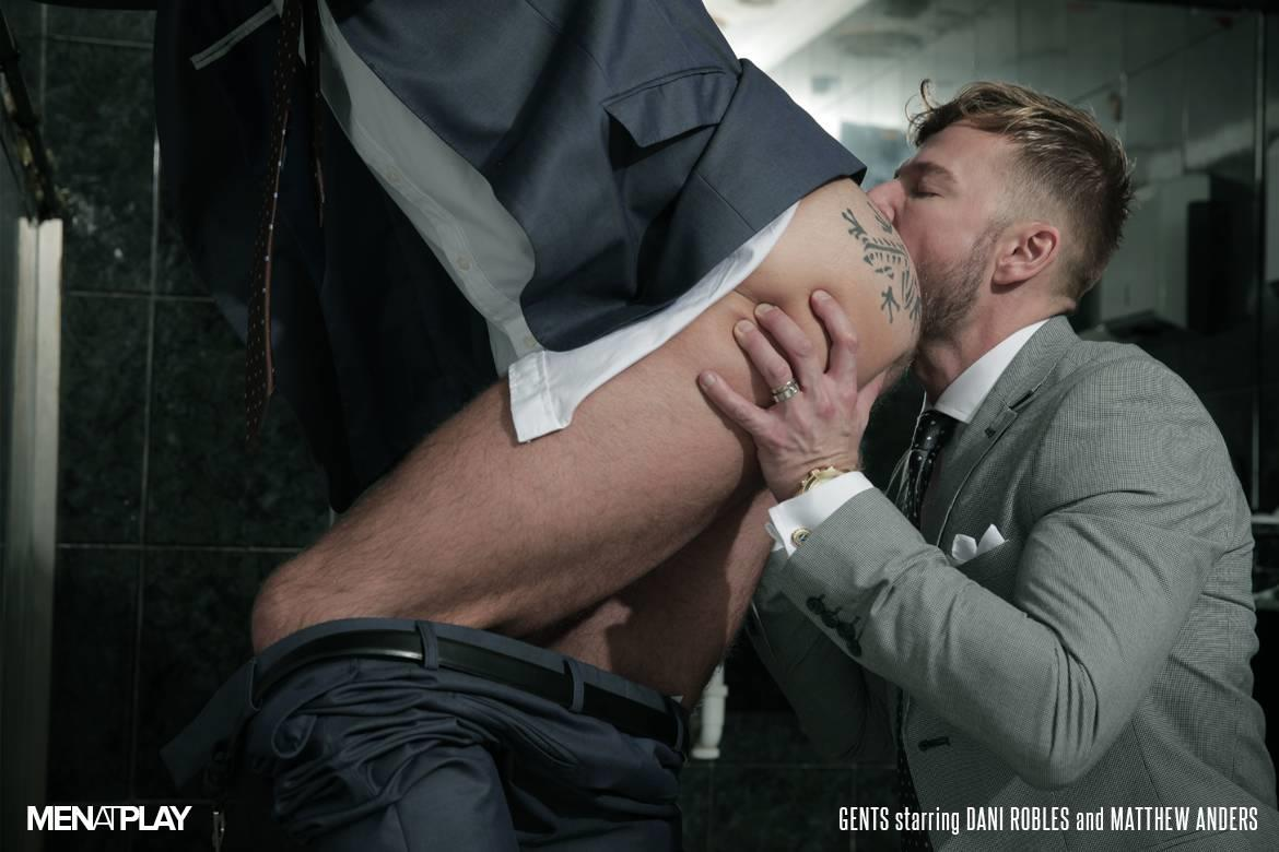 Men-At-Play-Matthew-Anders-and-Dani-Robles-Men-In-Suits-With-Big-Cocks-Fucking-Amateur-Gay-Porn-21 Looking For Cock and A Fuck In the Men's Restroom