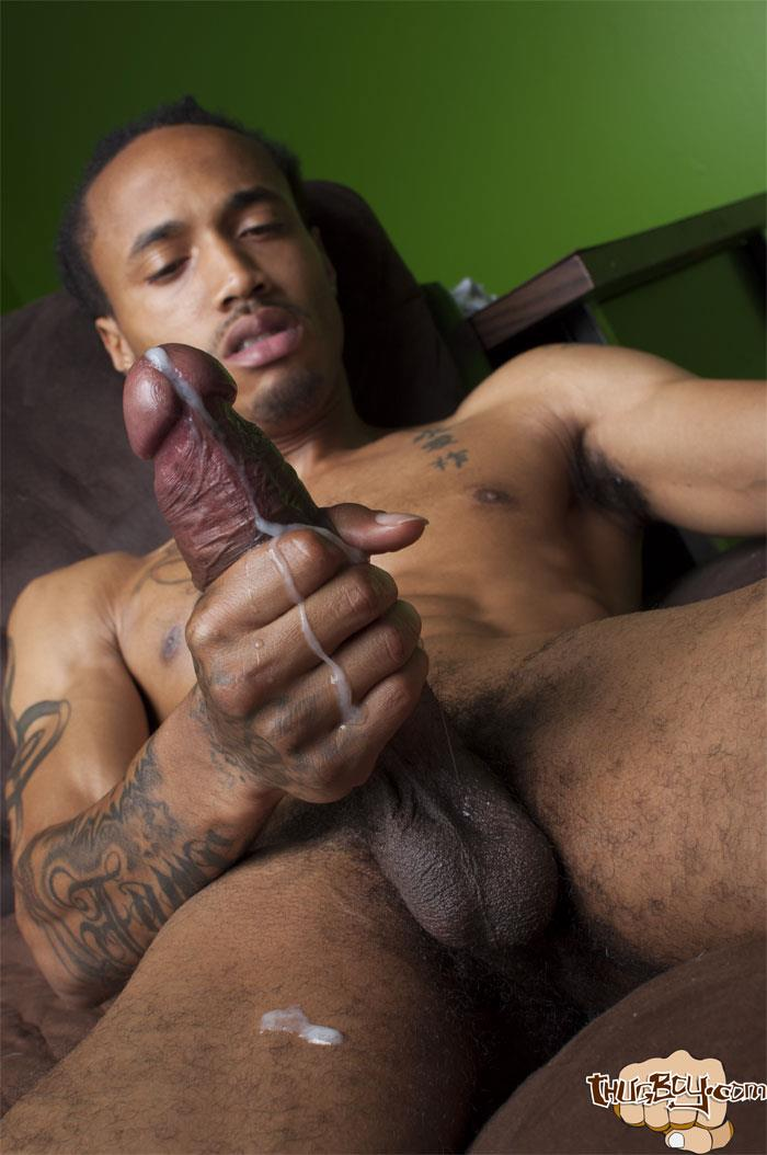 Thug Boy Cali Bandz Big Black Uncut Cock Jerk Off Amateur Gay Porn 61 Thug Boy:  Straight Ghetto Thug Strokes His Big Black Uncut Cock