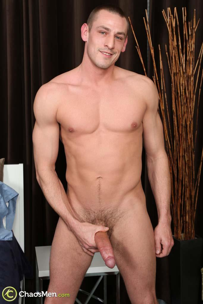 Chaosmen-Kirkland-Straight-Muscle-Hunk-Jerks-Big-Cock-Amateur-Gay-Porn-16 Straight Muscle Hunk Jerks His Big Dick When He Auditions For Gay Porn