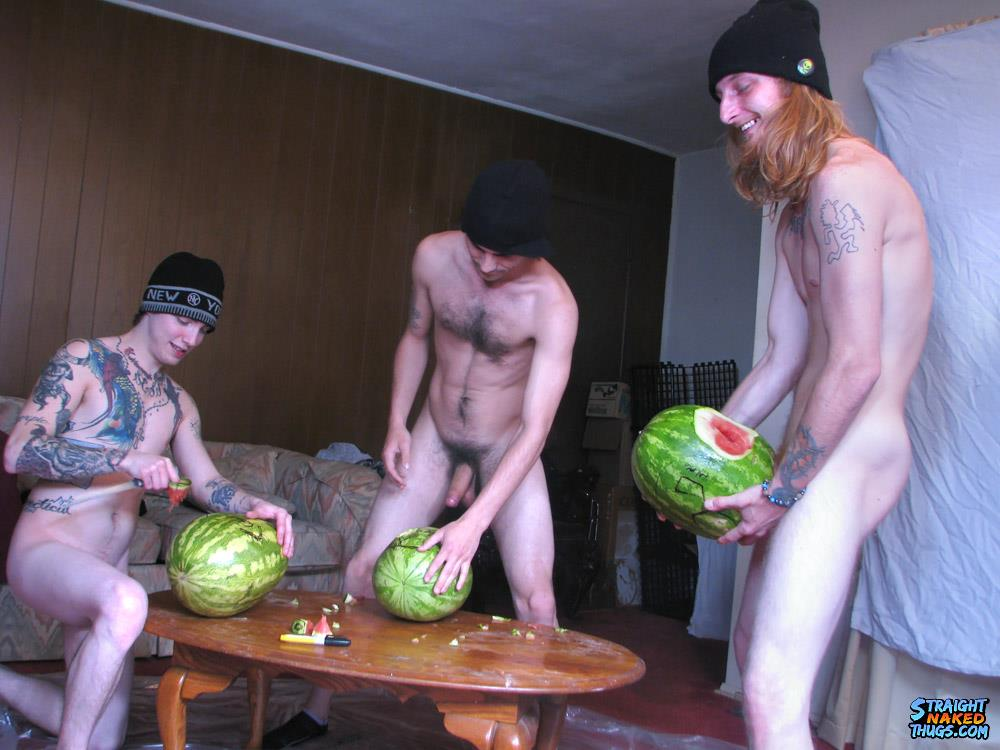 Straight-Naked-Thugs-Devin-Reynolds-and-Blinx-and-Kenneth-Slayer-Fucking-A-Watermelon-Amateur-Gay-Porn-07 Straight Southern Naked Rednecks Fuck Some Watermelons With Their Big Dicks