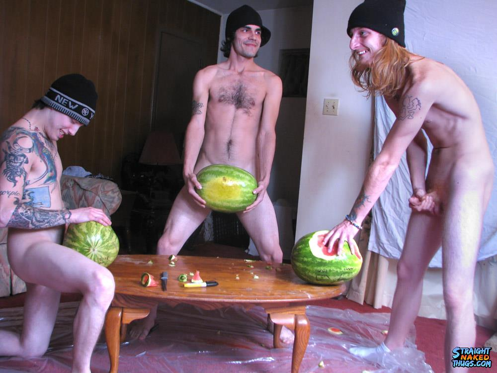 Straight Naked Thugs Devin Reynolds and Blinx and Kenneth Slayer Fucking A Watermelon Amateur Gay Porn 12 Straight Southern Naked Rednecks Fuck Some Watermelons With Their Big Dicks