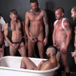 Raw and Rough Piss Tub Bareback Sex Party Amateur Gay Porn 10 150x150 Getting Bareback Fucked In The Piss Tub At The Gay Bar