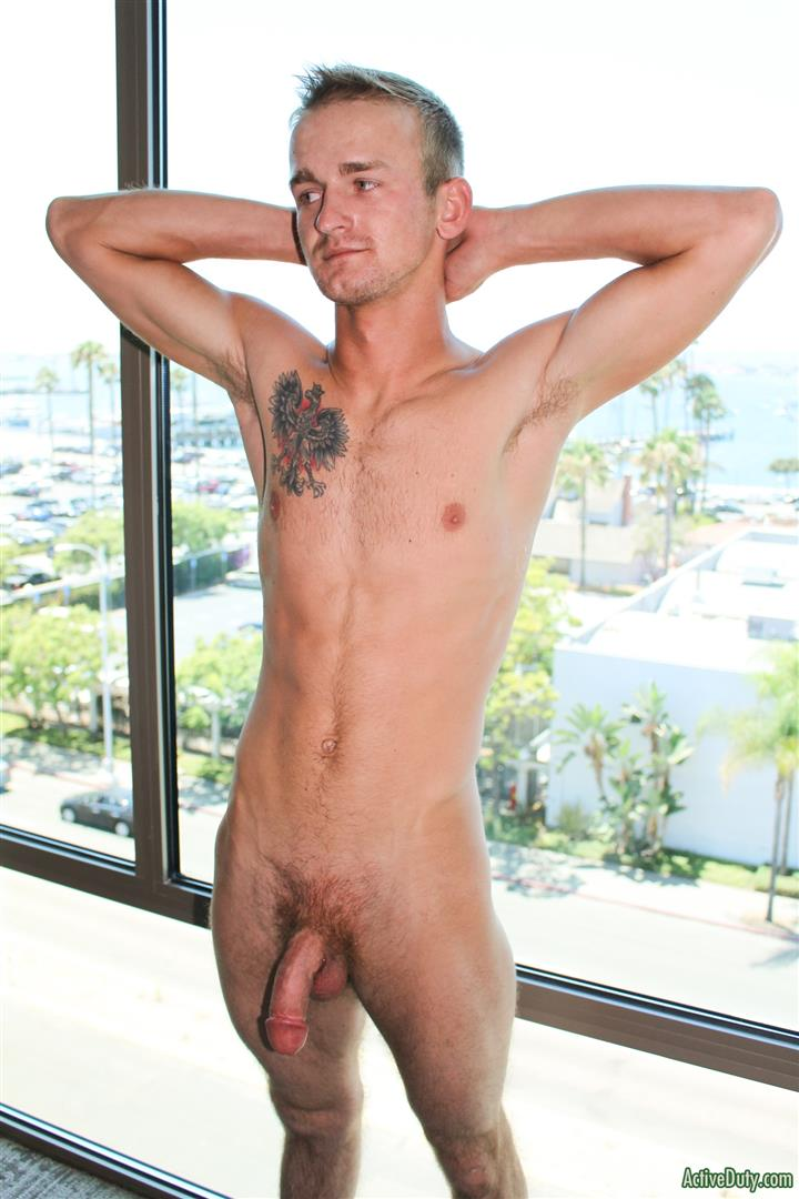 Active-Duty-Kevin-Reed-Naked-Navy-Guy-Jerking-Big-Cock-13 Navy Recruit Kevin Reed Jerks His Big Cock