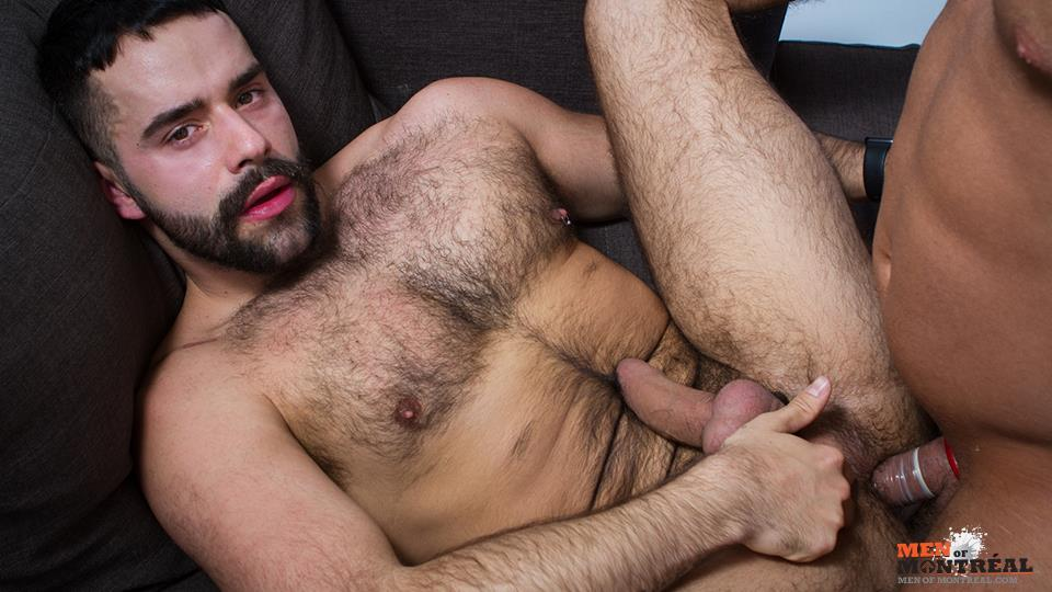 Men-of-Montreal-Teddy-Torres-and-Mateo-Amateur-Gay-Porn-18 Hairy Muscle Jock Teddy Torres Gets His Hairy Ass Plowed Deep