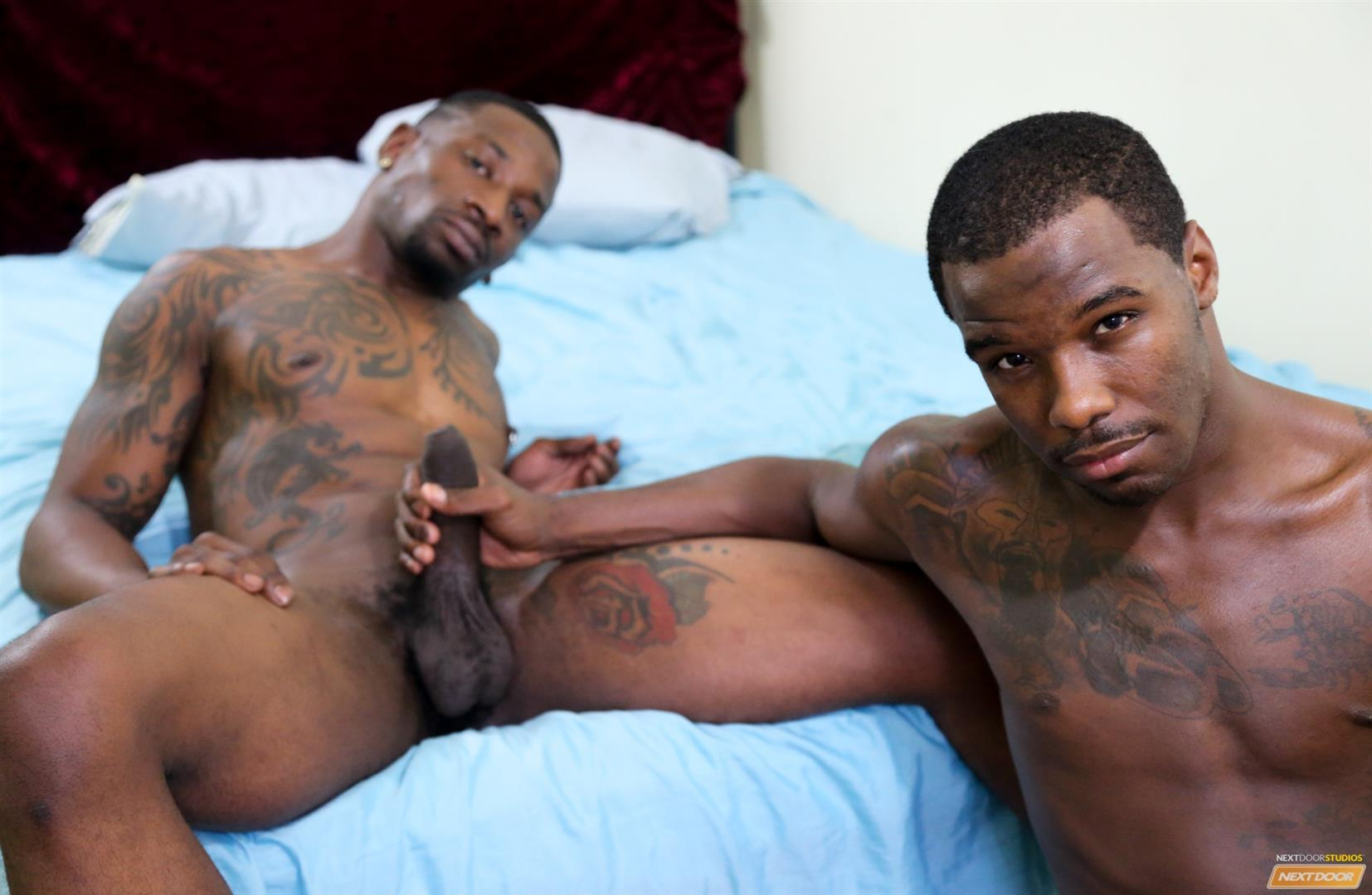 Next Door Ebony Muscular Black Guys Fucking Free Gay Sex Video 09 A Hard Morning Fuck With Two Hung Black Lovers