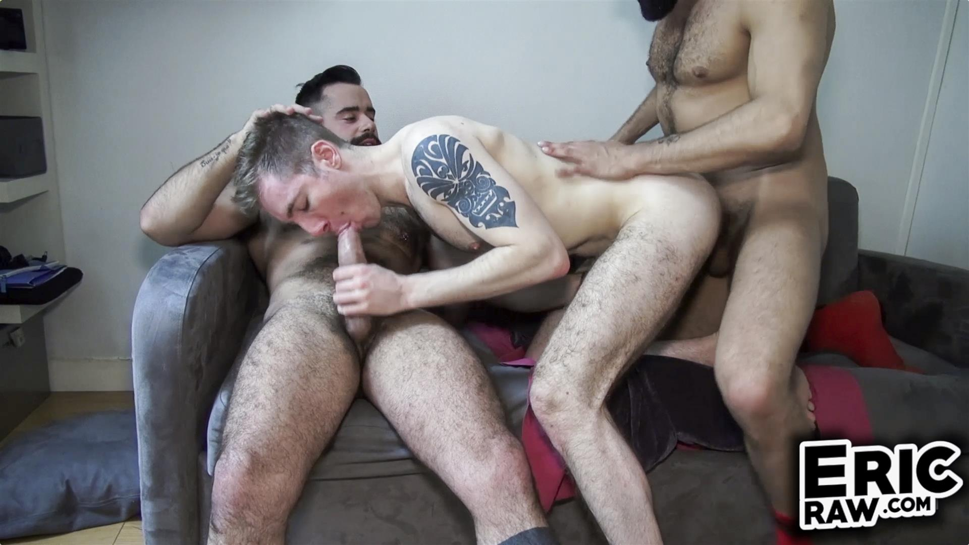 Eric Raw Bareback Threesome Hairy Muscle Hunks Amateur 01 Bareback Fuck Date With Three Hairy Muscular Jocks