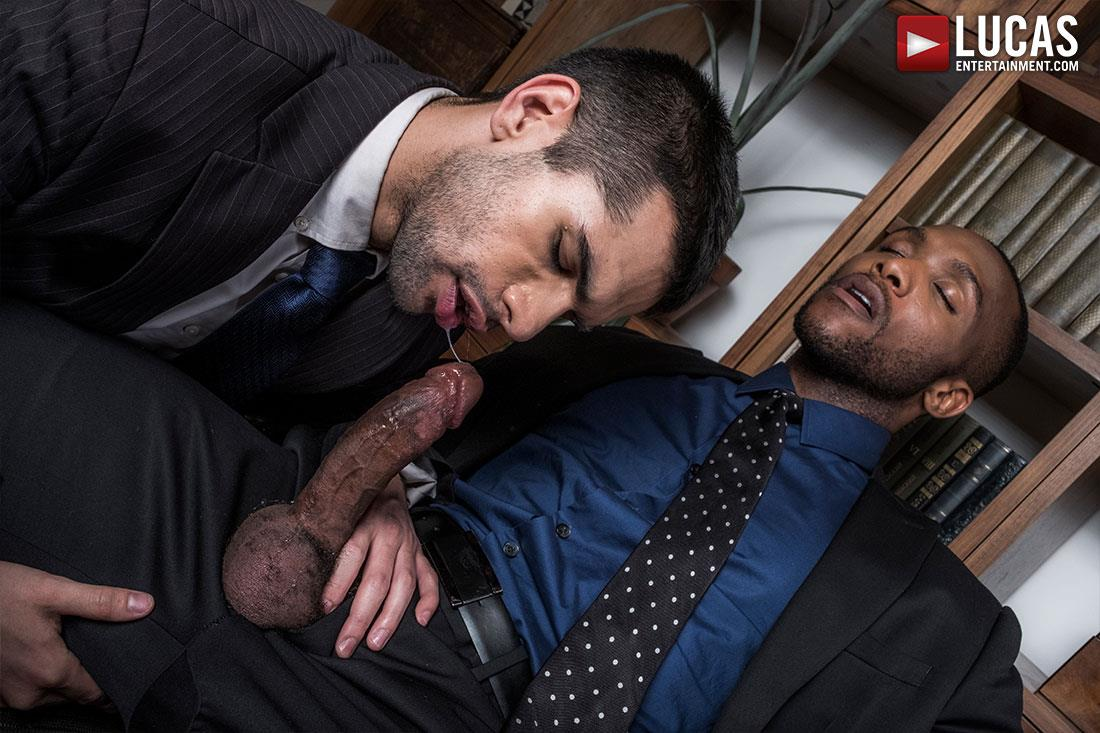 Lucas-Entertainment-Ty-Mitchell-and-Andre-Donovan-Big-Black-Cock-Bareback-Sex-12 Getting Fucked Raw By My Bosses Big Black Cock