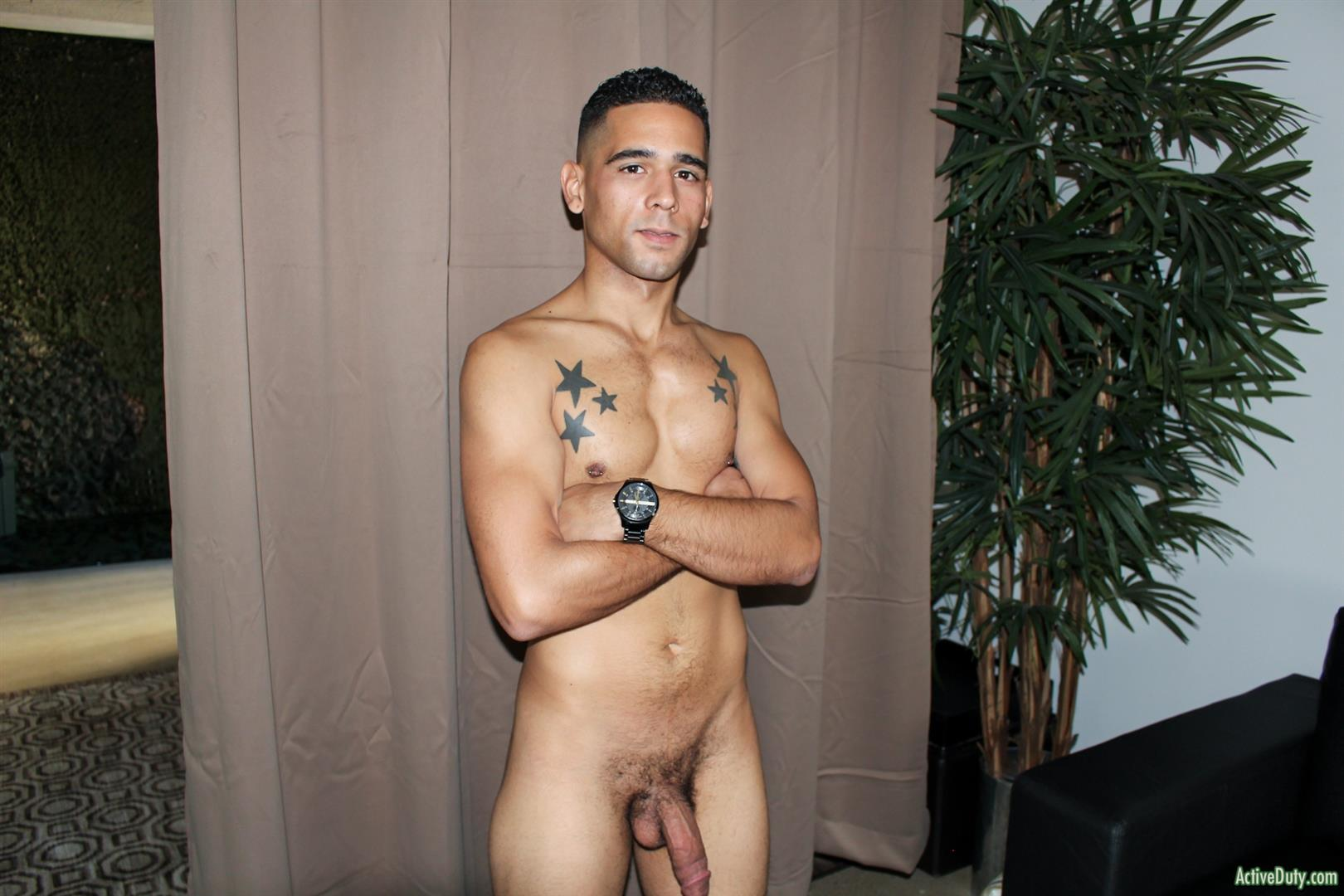 Active-Duty-Rossi-Thick-Dick-Naked-Soldier-Jerking-Off-Video-11 Thick Dick Army Soldier Jerks Out A Creamy Load Of Cum