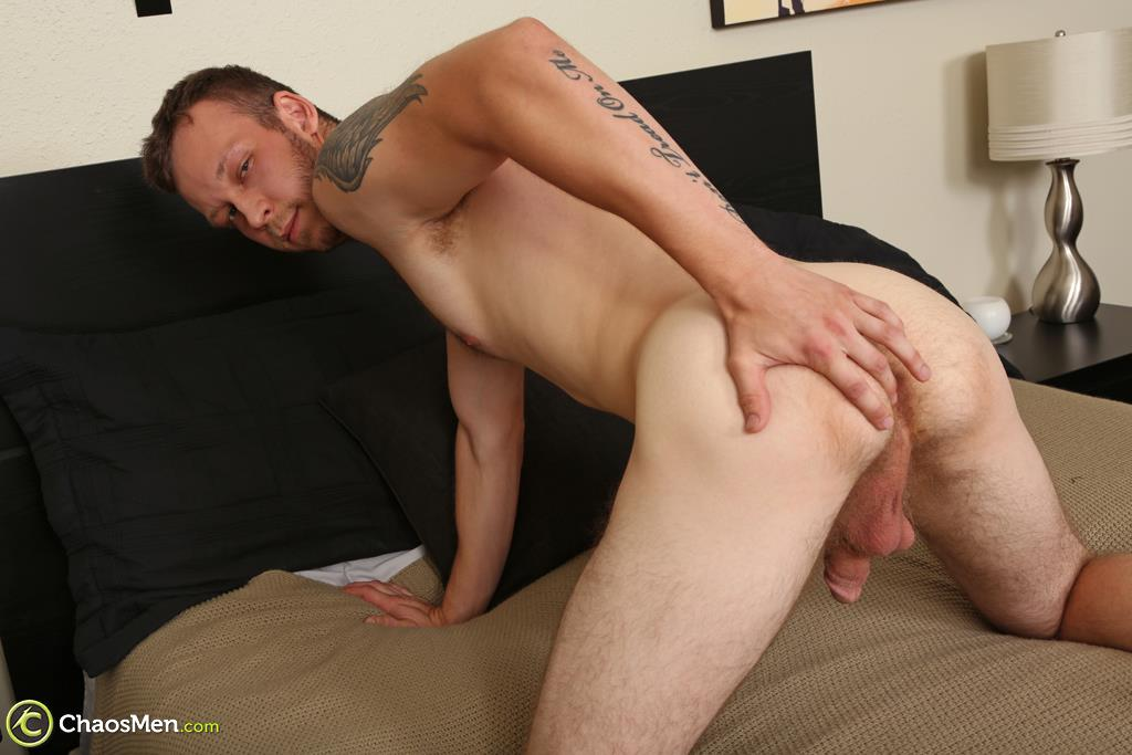 "Chaosmen-Beckett-Hairy-Otter-With-A-Thick-Cock-Jerking-Off-29 Bisexual Otter Hunk Strokes His Thick 8"" Big Cock"
