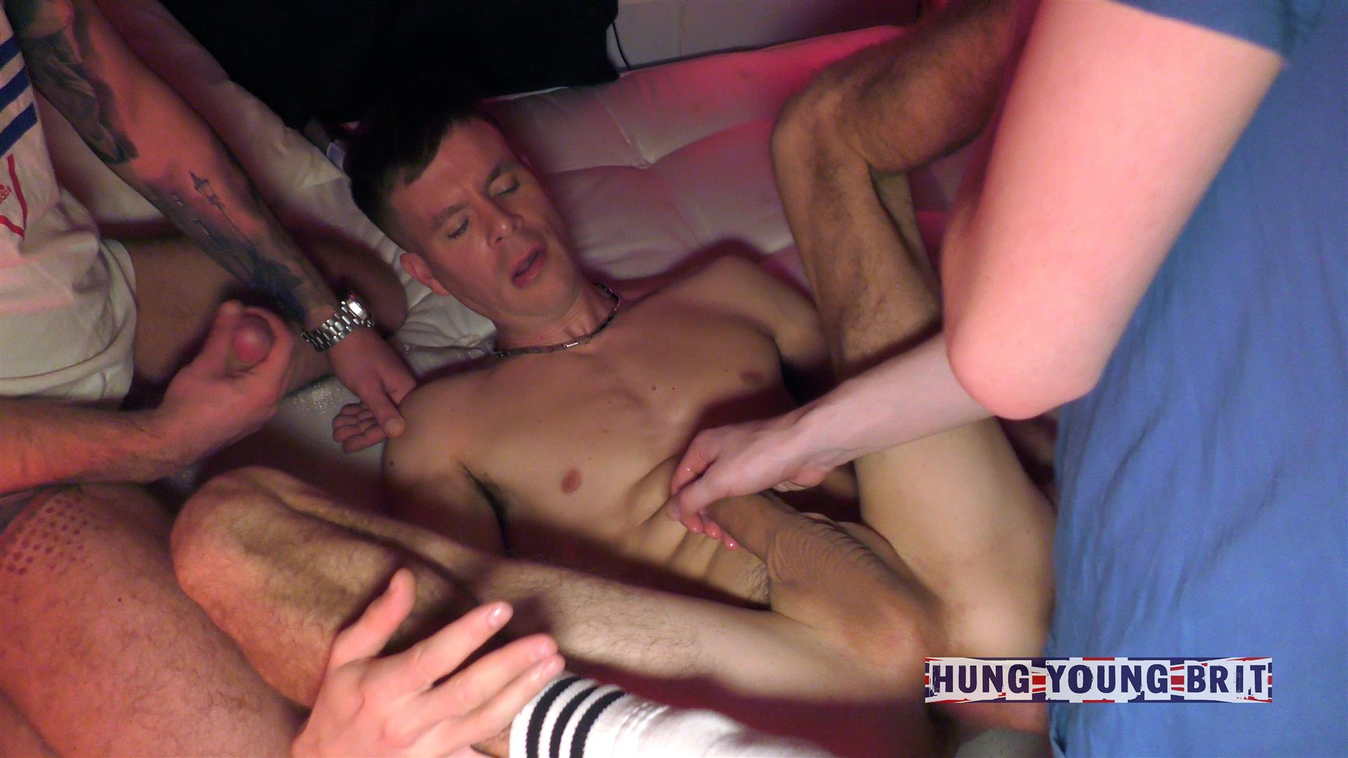 Hung-Young-Brit-Big-Uncut-Cock-Amatuer-Gay-Bareback-Sex-Party-04 3 Party Boys, Wanking, Sucking And Raw Fucking