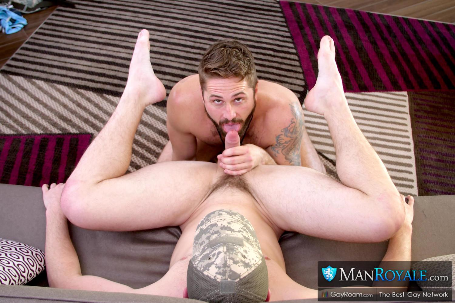 Man-Royale-Wesley-Woods-and-Michael-Boston-Big-Dick-Army-Soldier-Getting-Fucked-09 Sending The Boy Off To Boot Camp With A Hard Fucking And A Cum Facial