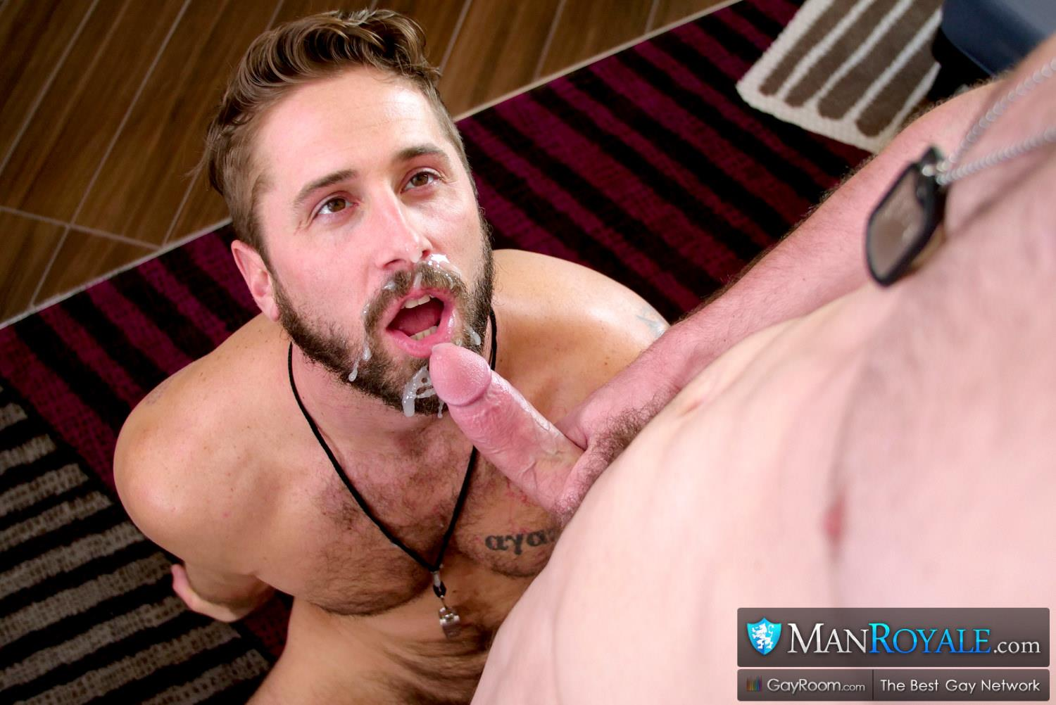 Man-Royale-Wesley-Woods-and-Michael-Boston-Big-Dick-Army-Soldier-Getting-Fucked-27 Sending The Boy Off To Boot Camp With A Hard Fucking And A Cum Facial